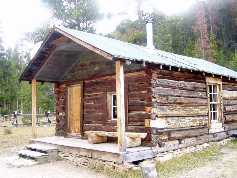 An old miner's cabin that's been restored. RMNP